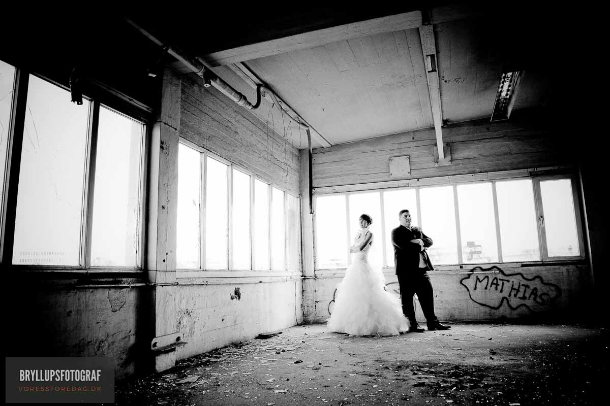 enkel brudekjole